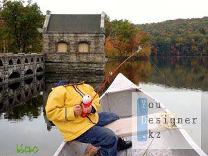 Детский шаблон - Рыбак / Children's template - the Fisherman
