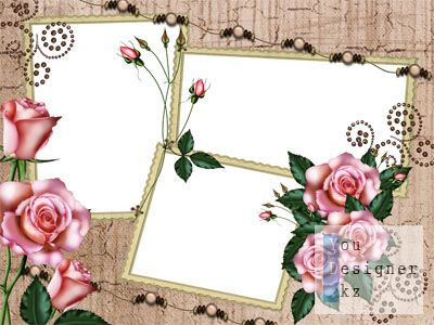 Рамка для фото - Роза под старину