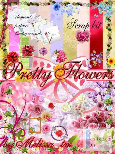 Скрап-набор - Симпатичные Цветы