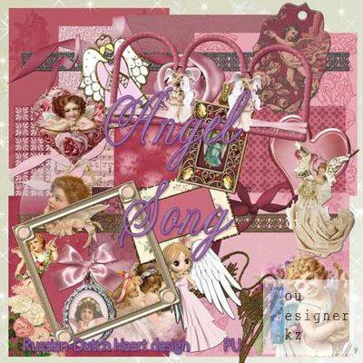 Скрап набор - Песня ангела / Scrap kit - Angel Song