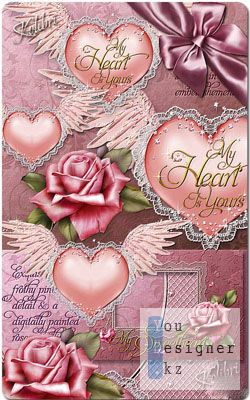 Скрап набор: Мое сердце принадлежит тебе / Scrap kit  - My Heart Is Yours