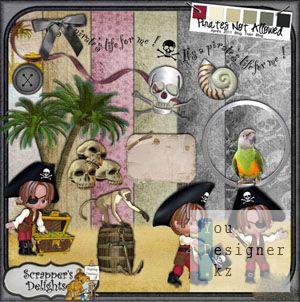 Скрап-набор - Маленький пират / Scrap kit - Little pirate