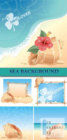 Векторные фоны - Море /  Sea background