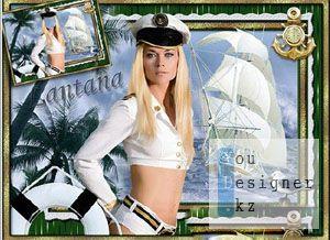 Шаблон для фото - Морячка