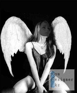 Шаблон для фотошоп - Девушка Ангел!
