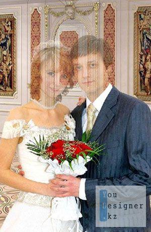 Шаблон для фотошопа – Жених и невеста