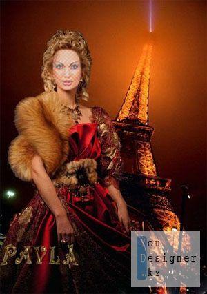 Шаблон для Photoshop - Ночной Париж