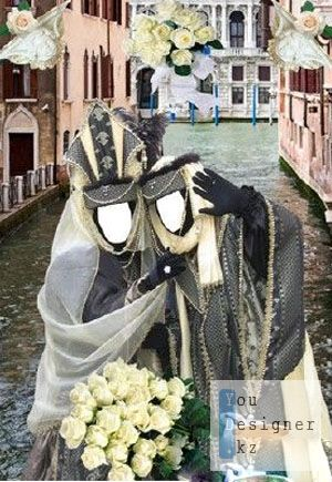 Шаблон для фотомотажа Свадьба в Венеции / Template Wedding in Venice