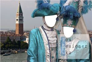 Шаблон Венецианские молодожены / Template Venetian just married couple