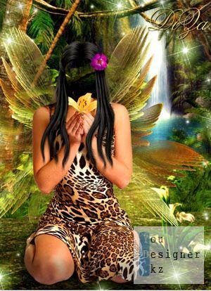 Шаблон женский - Лесная нимфа