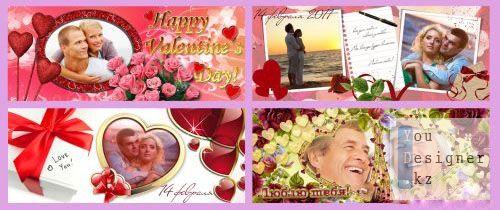 Шаблоны на кружки ко Дню Святого Валентина