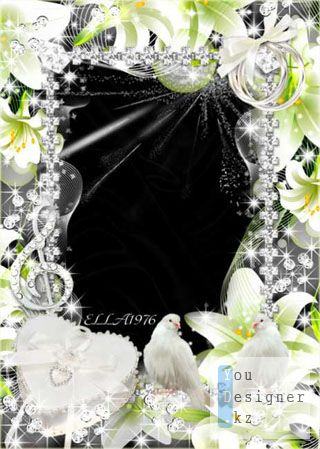 Свадебная фоторамка - Музыка нашей любви / Wedding photoframe - Music of our love