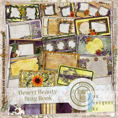 PNG Скрап-странички (Рамки) - С Элементами Цветов