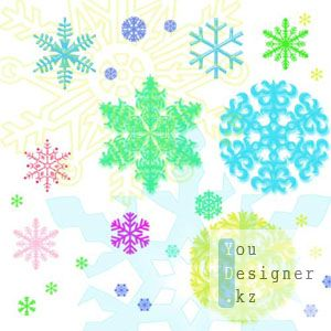 Кисти - Снежинки / Snowflake brushes