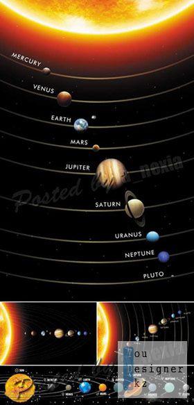 Солнечная система в векторе / Solar System Vector