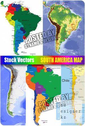 Векторный клипарт - Катры Южной Америки