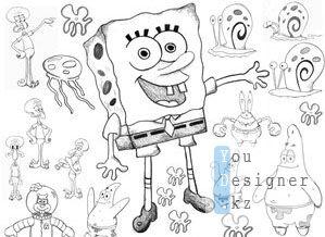 Кисти - Спанч Боб и друзья / Brushes - Sponge Bob and friends