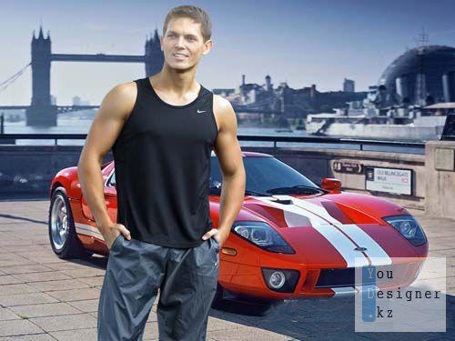 Мужской шаблон для фотошопа  -  Спортик  /  The male template for photoshop