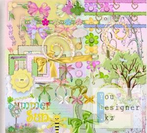 Скрап-набор - Тихое Лето/ Scrap kit - Still Summer