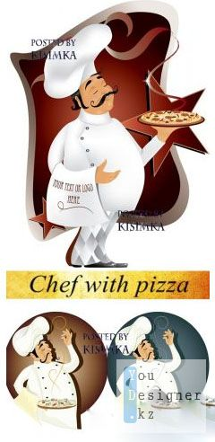Stock: Chef with pizza