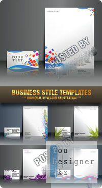 Stock Vector - Business Style Templates / Шаблон Бизнес Стиля