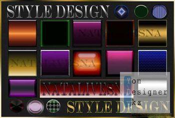 Дизайнерские стили для Фотошоп / Style design for Photoshop