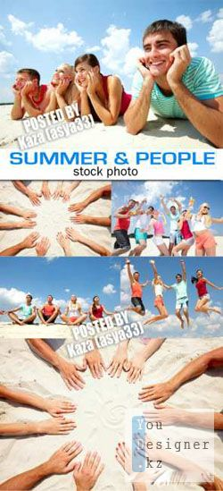Фото сток: Люди на пляже / Summer beach people