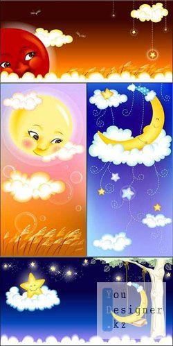 Солнце & луна / Sun & Moon PSD