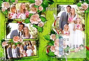 Wedding photo-frame - Wish happiness!