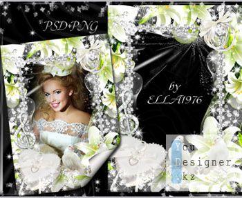 Свадебная фоторамка-Музыка нашей любви / Wedding photo frame - Music of our love