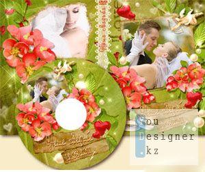 Свадебная обложка и задувка для DVD - Яркие моменты / Wedding DVD cover -Bright moments
