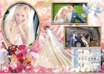 Свадебная рамка - Счастья миг / Wedding frame - a moment of Happiness