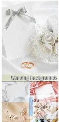 Свадебные фоны с обручальными кольцами / Wedding backgrounds with wedding rings