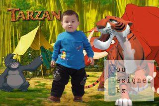 Шаблон для фотомонтажа-Тарзан