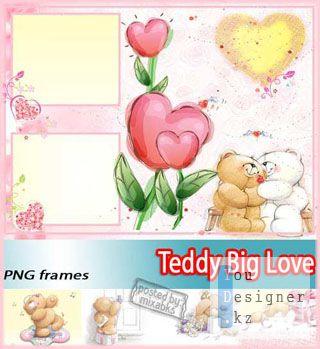 Рамка для фото - Влюбленный Мишка Тедди | Teddy Love