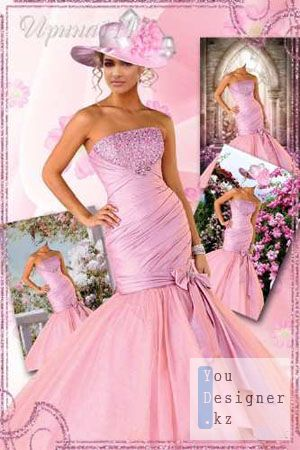 Женский шаблон для Photoshop - Нежность розового