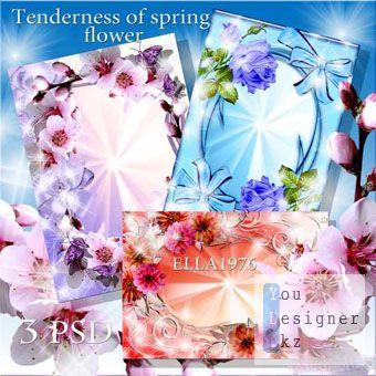 Набор фотрамок - Нежность весеннего цвета