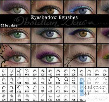 Кисти для фотошоп - Тени для век / Brushes for photoshop - eye Shadows