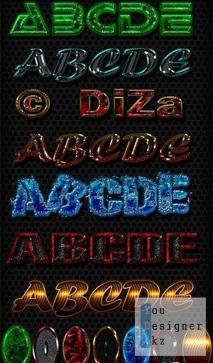 Текстовые стили для фотошопа. Text styles by Diza - 3