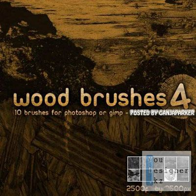 ABR Кисти для Adobe Photoshop - Дерево / Wood brushes