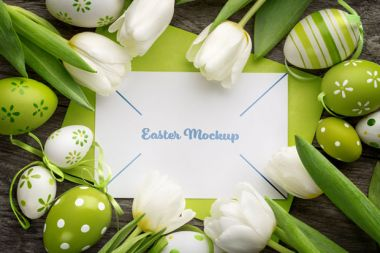 Easter Card PSD Mockup