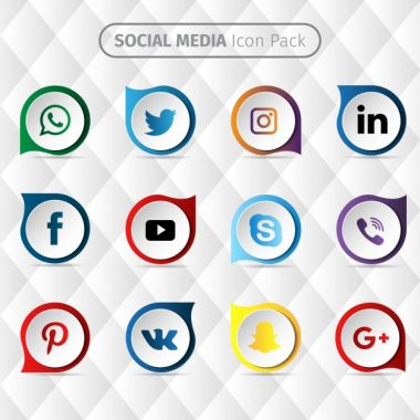 Social media icon design Free Vector