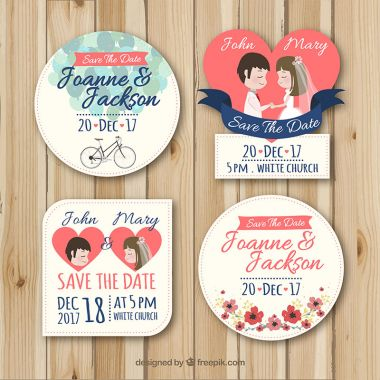 Vector Lovely set of wedding labels