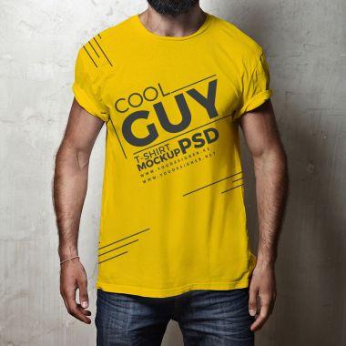Men's Hipster T-Shirt Mockup