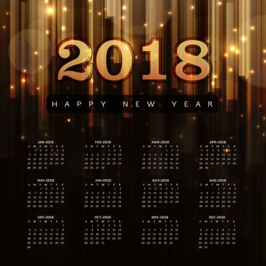 Happy New Year 2018 Elegant Royal background