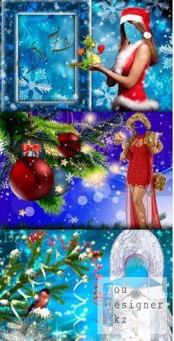 3 новогодних шаблона - Снегурочки / 3 new year's template - The Snow Maiden