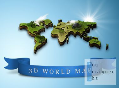 World Map psd for Photoshop