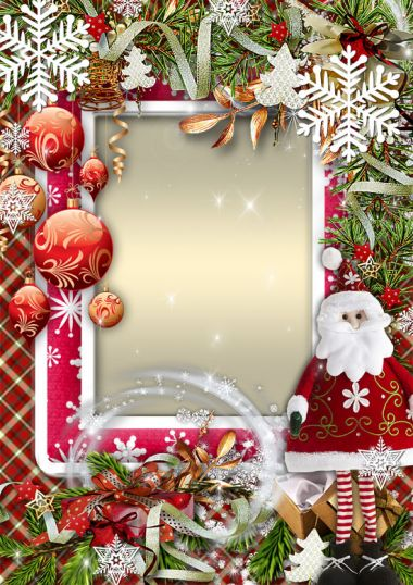 Photoframe for photoshop for the New Year