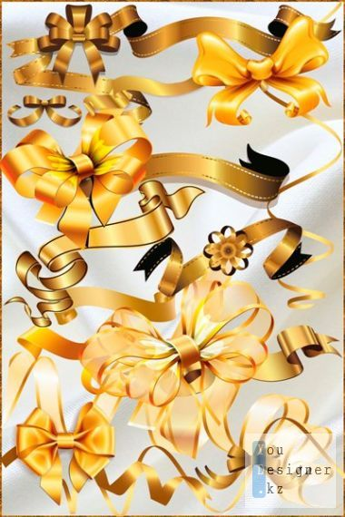 Clipart - Bows and ribbons for decoration of any holiday