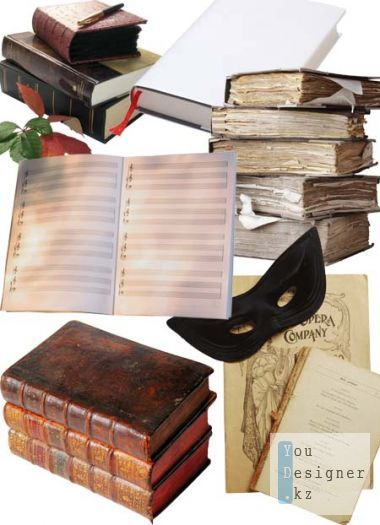 ClipArt - Books, notebooks, journals